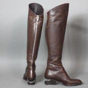 Alexander Wang 6.5 Sigrid Block Heel Tall Boot Brw